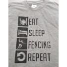 Ελληνικό T-SHIRT Fencing Οικολογική για παιδιά